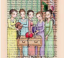 Jane Austen - The Bennet Sisters Go Bonnet Shopping by Purrr