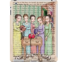 Jane Austen - The Bennet Sisters Go Bonnet Shopping iPad Case/Skin