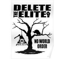 Delete The Elite - Anti New World Order Poster