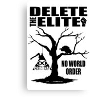 Illuminati - Delete The Elite Canvas Print