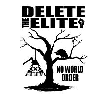 Illuminati - Delete The Elite Photographic Print