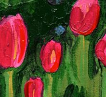 Tulips from the Avian Estates ABSTRACT Sticker