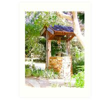Wishing Well Cambria Pines Lodge Art Print