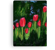 Tulips from the Avian Estates ABSTRACT Canvas Print