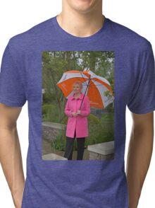 Carol Kirkwood BBC weather girl Tri-blend T-Shirt