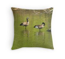 Geese in a Lake Throw Pillow