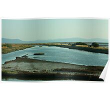Salt Marshes on the Island of Lesvos Poster