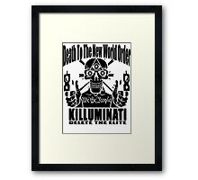Death To The New World Order Framed Print
