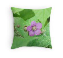 Purple-Flowering Rasberry (Rubus odoratus) Throw Pillow