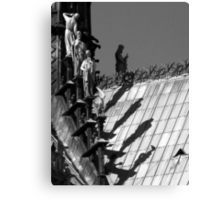 Shadow of the giants - b&w Canvas Print