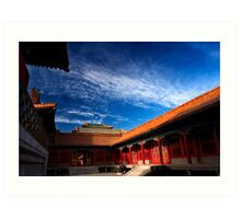 Behai Architecture - The Forbidden City, China Art Print
