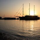 Mediterranean Sunset ... on a Greek Island :) by BettinaSchwarz