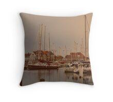 Blankenberg Yacht Port - Belgium Throw Pillow