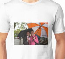Chris Hollins & Carol Kirkwood at the Chelsea flower show 2015 Unisex T-Shirt