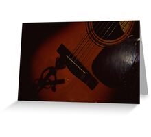 Guitarist Within the Guitar Greeting Card