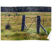Old gate near the Grampians National Park Poster