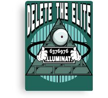 Delete The Elite Canvas Print