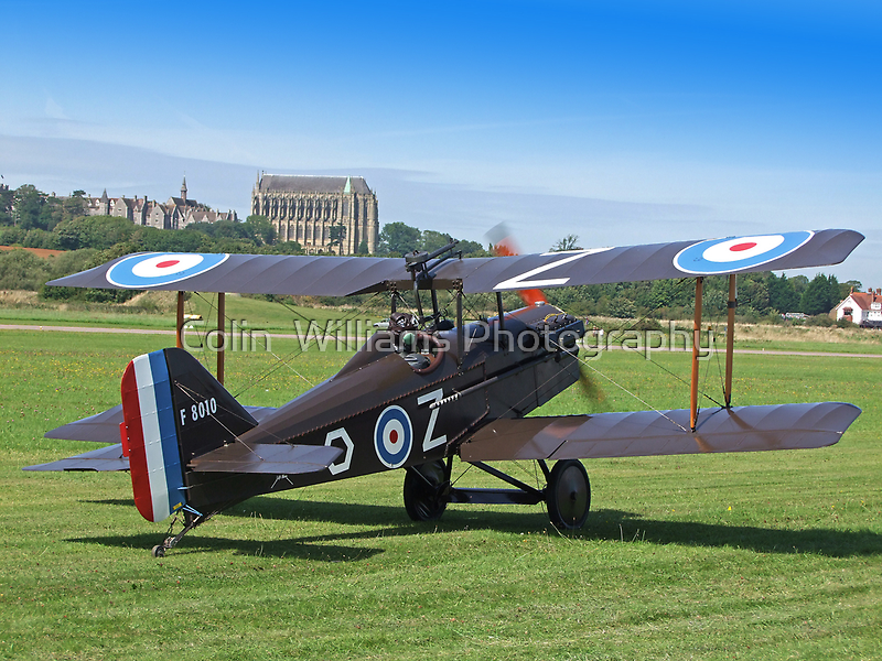 SE5A and Lancing College Chapel - Shoreham at it`s Best by Colin  Williams Photography