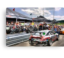 Porsche Pit Stop, Over The Wall Canvas Print