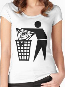 Delete The Elite - Anti New World Order Women's Fitted Scoop T-Shirt
