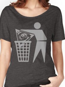 Delete The Elite - Anti New World Order Women's Relaxed Fit T-Shirt