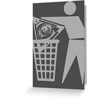Delete The Elite - Anti New World Order Greeting Card