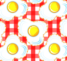 Eggs (red gingham) Sticker