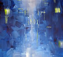 Cold City Abstract Skyline by Samuel Durkin