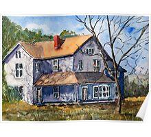 Old Farm House - Watercolor Landscape Poster