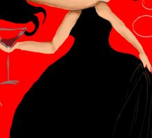 Black Dress in a Red Room Sticker