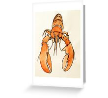 Lonely Lobster Greeting Card