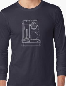 Half & half white Long Sleeve T-Shirt