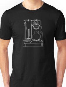 Half & half white Unisex T-Shirt