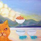 Puss N Bowls by Rhinovangogh