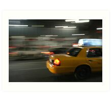 RUSH NEW YORK CITY Art Print