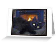 Persia by the Fireplace Greeting Card