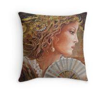 Golden Wood Throw Pillow