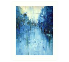 Cold #3 Abstract cityscape Art Print