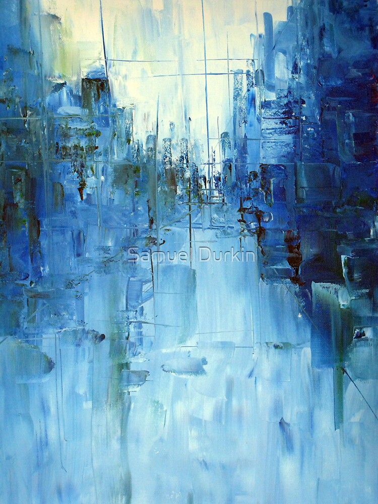 Cold #3 Abstract cityscape by Samuel Durkin