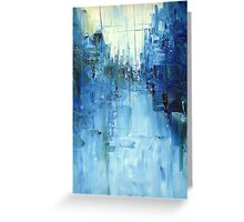 Cold #3 Abstract cityscape Greeting Card