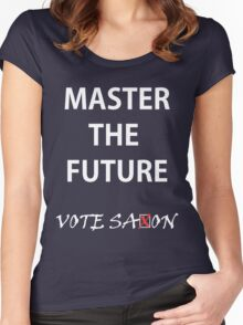 Vote saxon Master the future Women's Fitted Scoop T-Shirt
