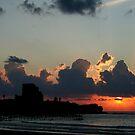 Sunset Over Atlit by Nira Dabush