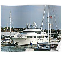 """""""Yacht's In Newport Harbor"""" - Newport, Rhode Island - © 2008 Poster"""