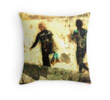 Retro Grunge Throw Pillow