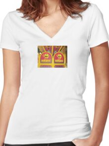 Pac Man Fever Women's Fitted V-Neck T-Shirt