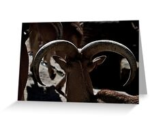 The Ram's Horns Greeting Card