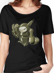 Robot Cat Shirt Women's Relaxed Fit T-Shirt