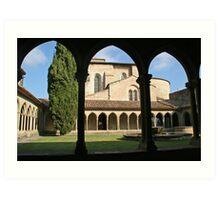 The Abbey of Saint Hilaire  Art Print