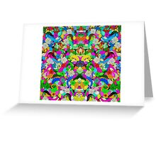 Colorful Floral Collage Greeting Card