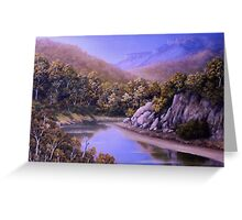 RIVER LOW TIDE Greeting Card